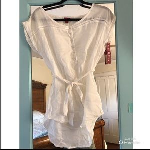 Merona white short-sleeve shirt